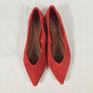 New $48 TopShop Attitude Orange Ballet Flats - 4.5